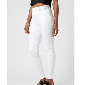 Topshop MOTO White Authentic Skinny Jamie Jeans